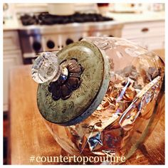 Cookie Jar in Patina Green by CountertopCouture on Etsy