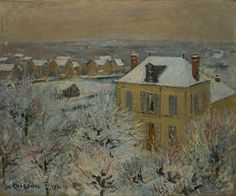 Gustave Loiseau ( 1865–1935, French painter ) - House in Winter, 1911