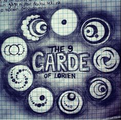 The Nine Garde of Lorien~ This is amazing- especially with blue biro pen