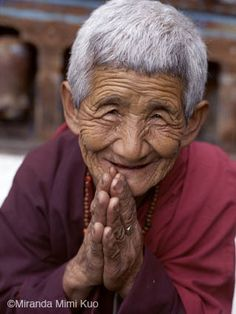 Bidha, 75 year-old nun who joined the Animdratshang nunnery in Paro at the age of 53 #buddhist #buddhism #nun