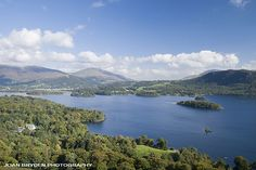 Derwent Water from Cat Bells in the Lake District National Park, Cumbria, England