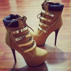 8/10. I never thought a mix between hiking boots/shoes and high heels would strike me so alluringly... A kickass kinda sexy this is! ♥  -Megan