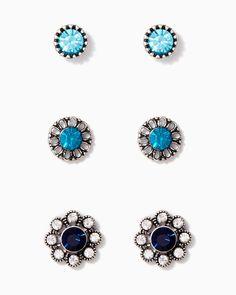 charming charlie | Flower Trio Earring Set | UPC: 410007205733 #charmingcharlie