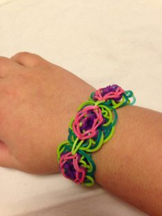 CUSTOM Daisy Chain Rainbow Loom Bracelet in Your by Eebneeble