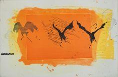 Kjell Nupen (1955)/Flygende. Kobbertrykk Gerhard Richter, Edvard Munch, Norway, Scandinavian, Moose Art, Wings, Collage, Nests, Contemporary
