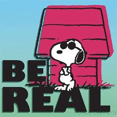 Peanuts BE REAL Canvas Wall Art sign print plaque 24437 Snoopy NEW