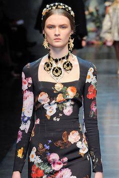 Lara Mullen at Dolce and Gabbana