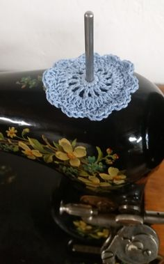 Hey, I found this really awesome Etsy listing at https://www.etsy.com/listing/228323690/spool-pin-doily-blue