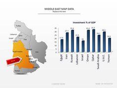 Middle East map PowerPoint slide presentationdesign slidedesign