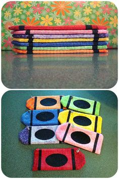 Sandra Sews :): crayon pouches with link to tutorial