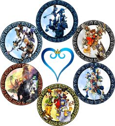 A stained glass that incorporates all of the games within the Kingdom Hearts series (this is not including most of the final mixes)