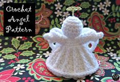 My Mistletoe Christmas Angel Ornament Pattern is the Angel Pattern available. This quick to crochet project can be finished in just a couple of hours. Use my free pattern to make beautiful crocheted gifts for your friends and family this year! Crochet Winter, Holiday Crochet, Crochet Gifts, Crochet Yarn, Free Crochet, Christmas Crochet Patterns, Crochet Ornaments, Crochet Snowflakes, Crochet Angel Pattern