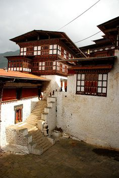 Monastery in Bhutan. Bhutan, a Buddhist kingdom on the Himalayas' eastern edge, is a land of monasteries, fortresses (or dzongs) and dramatic topography ranging from subtropical plains to steep mountains and valleys. (V)