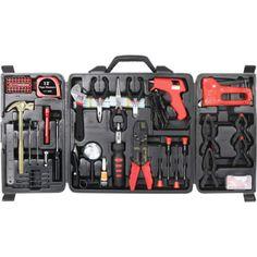 Não precisa ser a mais cara, só precisa ter coisas indispensáveis: martelo, chave de fenda (tanto Phillips quanto chata), chave inglesa, alicate e uma trena.
