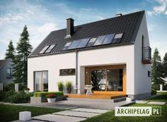 Eco house, small house plans, villas plans, every project has format. Mexi homes offer you over 1100 home projects to browse and fine your dream house. Villa Plan, Style At Home, Villas, Small Villa, Gable House, Rural House, Modern Barn, Barn Plans, Design Case