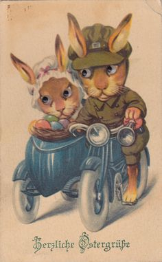 Old Easter Post Card — Fröhliche Ostern Easter Art, Easter Crafts, Easter Bunny, Happy Easter, Easter Greeting Cards, Vintage Greeting Cards, Easter Pictures, Easter Parade, Easter Traditions