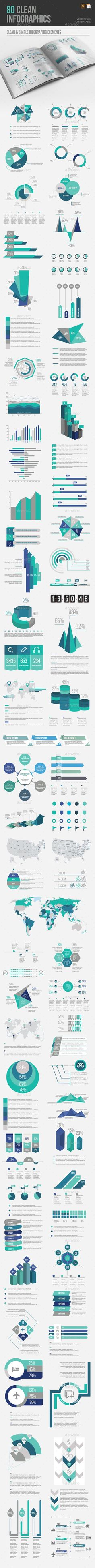 Infographic Element Templates Vector EPS, AI Illustrator. Download here: graphicriver.net/...
