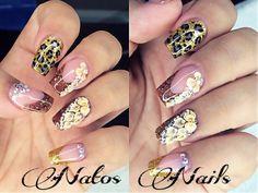 Uñas Acrilicas Otoño | Natos Nails | Fall Nails Art - YouTube