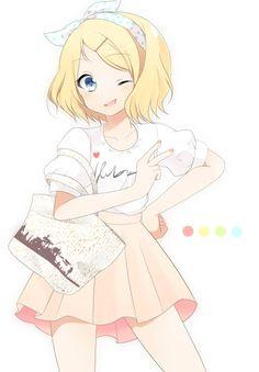 Anime yellow hair cute girl ♥