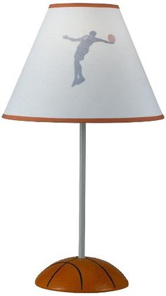 CAL LIGHTING BO-5682 BASKETBALL LAMP   - Click image twice for more info - See a larger selection of kids table lamps at http://tablelampgallery.com/product-category/kids-table-lamps/ - home, home decor, home ideas, desk lamp , gift ideas, lightning, lamp, kids lamp