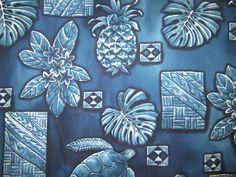 "$34.95 - Denim/Canvas 2PC - ""BLUE - TURTLE FERN"" Hawaiian Car Seat Covers!"