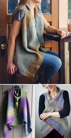 Free Knitting Pattern for Easy Cascade Vest