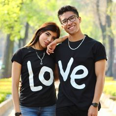 Love T-Shirts for couples Cute Couple Outfits, Cute Couple Shirts, Couple Tees, Matching Couples, Matching Family Outfits, Matching Shirts, Cute Couples, Mens Polo T Shirts, T Shirts For Women
