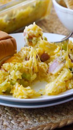 Ham And Rice Casserole, Casserole Recipes, Leftover Ham Casserole, Noodle Casserole, Pork Recipes, Cooking Recipes, Healthy Recipes, Pasta Recipes, Cooking Rice