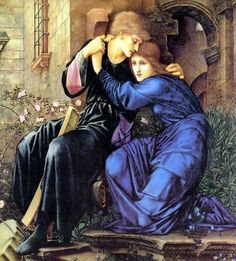 """Tristan and Isolde, """"Love Among the Ruins"""" (detail) based on Robert Browning's 1855 poem  ~ Sir Edward Coley Burne-Jones ~ (English: 1833-1898)"""