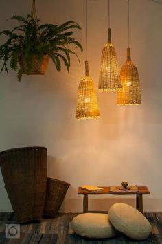 Woven Bamboo Pendant Light Rustic Bamboo Pendant Lamp Fish | Etsy Bamboo Pendant Light, Bamboo Lamp, Rustic Pendant Lighting, Plug In Hanging Light, Hanging Lights, Basket Lighting, Bamboo Canes, Lamp Socket, Baskets On Wall