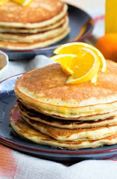 Low FODMAP Recipe and Gluten Free Recipe - Pancakes with orange and spice