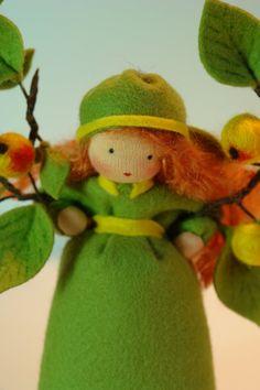 Cute Apple Girl Flower Child Waldorf by KatjasFlowerfairys, €38.00