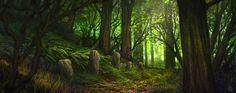 Green Forest by Fesbraa.deviantart.com on @DeviantArt