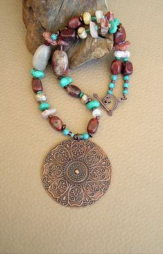 BOHO Necklace Southwest Jewelry Sundance Style by BohoStyleMe, $98.00