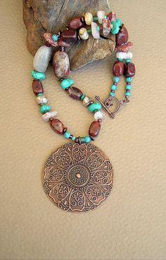 BOHO Necklace Southwest Jewelry Sundance Style by BohoStyleMe, $98.00