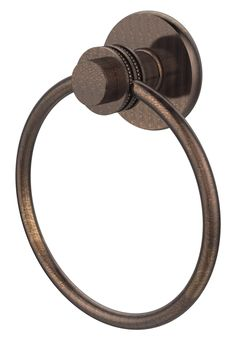 Mercury Wall Mounted Towel Ring with Dotted Detail