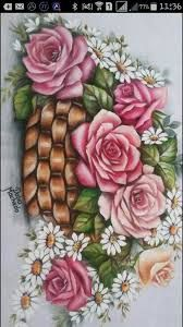 Resultado de imagem para pinturas dalva China Painting, Tole Painting, Fabric Painting, Painting & Drawing, Beautiful Flowers Wallpapers, Beautiful Rose Flowers, Rose Art, Painting Lessons, Painting Patterns