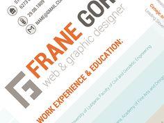 Designer CV by Frane Gorjanc, via Behance