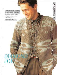 Knitting pattern  Man's  Diamond Joe by MyPatternsCollection