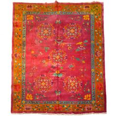 Chinese Red Rug | chinese deco carpet shanghai china c 1930 wool 108 0 wide 144 0 deep ...