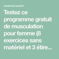 Testez ce programme gratuit de musculation pour femme (8 exercices sans matériel et 3 étirements) pour avoir des fesses fermes et rondes