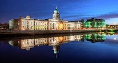 Customs House And Ifsc - Dublin Print by Barry O Carroll Customs House, Dublin City, Popular Photography, Beverly Hills, Fine Art America, Instagram Images, River, Mansions, House Styles
