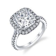 Diamond Ring (#ssvm03z-b-6.0sq) - Engagement Rings Solitaire - Designer Engagement Rings, Fine Jewelry & More. Serving San Carlos, Redwood City, Belmont, Foster City, San Mateo & the entire bay area.