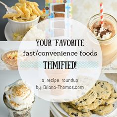 Here's a recipe roundup including a lot of your favorite fast food and convenience foods - made healthy! Trim Healthy Recipes, Trim Healthy Momma, Fast Healthy Meals, Gourmet Recipes, Low Carb Recipes, Healthy Eating, Whole30 Recipes, Healthy Food, Convenience Food
