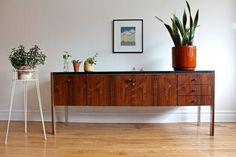 MidCentury Modern Rosewood Sideboard Herman Miller —