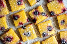 Lemon Bars With Blueberries in a Supporting Role by MELISSA CLARK