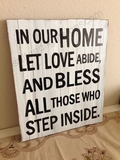 saltandlightsigns.com  Wooden Christian Home Family Love Bless Sign