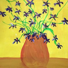 Violets. An acrylic painting