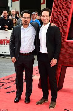 Show of support: Actor Michael Pena also appears in the film as Luis, Scott Lang's cellmat...