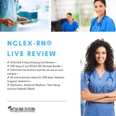 NCLEX-RN® Live Review ✔ Unlimited 3-Day Amazing Live Reviews + ✔ 200 days of our NCLEX-RN Ultimate Bundle + ✔ Unlimited Live reviews anytime we are on your campus + ✔ All online lecture videos for 200 days: Medical-Surgical, Pediatrics + ✔ Psychiatric, Maternal-Newborn, Test-taking Lecture Videos& QBank Get started now - www.247nursetutors.com Nclex Questions, Nclex Exam, Online Lectures, Test Taking, Nursing Students, Pediatrics, Get Started, Medical, This Or That Questions